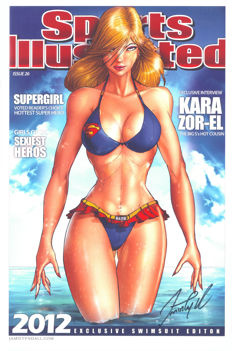 Jamie Tyndall - Limited Edition Poster - Supergirl - Sports Illustrated Magazine Cover