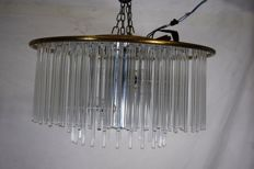 Sciolari - pendant light with glass slats