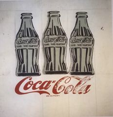 Coca Cola - Andy Warhol - Lithograph Georges Israel Editeur . Numbered with Printed signature