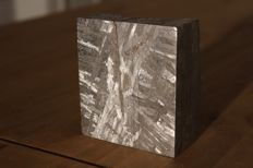 Seymchan Iron Meteorite block with crust -- 1.52 kg