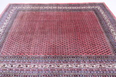 Fine Persian carpet Sarouk Mir 3.22 x 2.07 old pink handwoven high-quality new wool Oriental carpet GREAT CONDITION