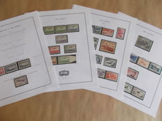 France 1930/1959 - Collection of air mail including 50 frs green - Yvert 5 - 37
