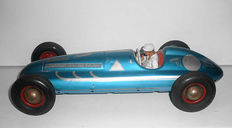 TippCo, Western Germany - length 29 cm - large tin race car with friction drive, 1950s