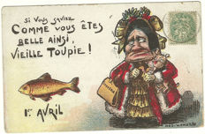 Silly and (often) nasty humor: funny batch of 66 postcards with a sometimes nasty kind of humour (from 1901 to 1990)