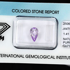 Purple Sri Lanka Sapphire – 1.41 ct – No Reserve Price