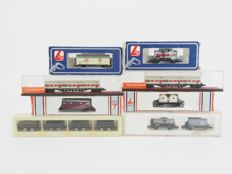 Lima/Roco/Arnold/Rowa N - 12 x different freight cars mostly of the DB