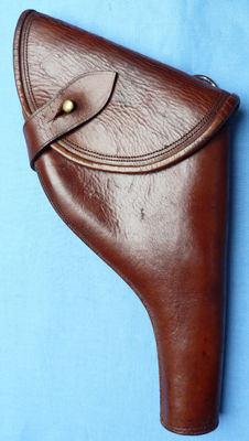 Original British early 20th century Military Officer's Webley Pistol Leather Holster