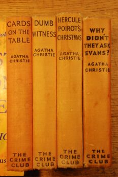 Agatha Christie; Lot with 4 first editions - 1934/1939