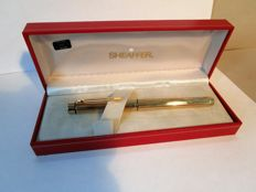 Sheaffer - gold-plated fountain pen with exceptional nib in 14 ct/585 gold - original packaging