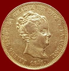 Spain - Isabel II, 80 Gold reales, Barcelona 1841 (Assayer PS) - 21 mm / 6.75 g