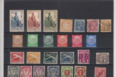World - collection of stamp blocks from classic to modern in stock book
