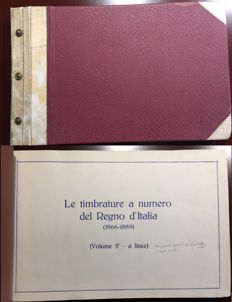 Italy, Kingdom 1866-1889 - Collection of numeral cancellation postmarks in two volumes