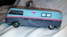 """Taiyo, Japan - Length 22 cm - Tin (extended) Volkswagen Bus """"NTS - Dutch television Foundation"""" with friction motor, 1960s"""