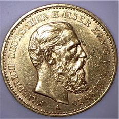 Prussia - 20 Mark 1888 A - gold