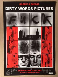 Gilbert and George - Dirty Words Pictures