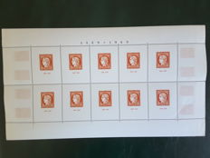 France 1949 - Exhibition for the Stamp centenary, block-sheet CITEX - Yvert BF no. 5