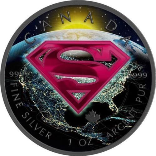 Canada - 5 Dollars 2016 'Superman Colored Earth' - 1 oz silver