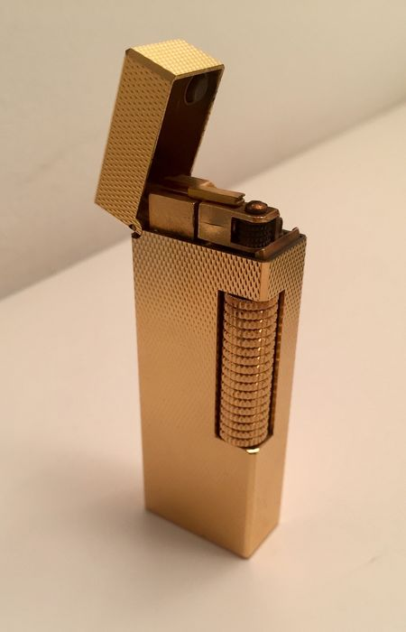 "Dunhill - ""Rollagas"" Lighter, Gold Plated, early 1980s"