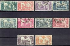 Spain 1905 - Third Centenary of the publication of Quijote - Edifil 257/266.
