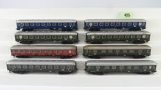 Märklin H0 - 4023/4024/4026/4027 - 8 Express train carriages with 1st and 2nd class and dining carriages of the DB