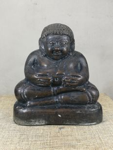 "A Bronze Thai Happy Buddha image ""Phra SangKajJaiYana"" - Thailand - approx. early 20th century"