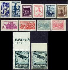 Spain 1938/1939 - Flying Plane and Campaign Mail - Edifil NE38, NE 38s, NE 46s/55s