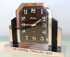 Montilier table clock (TIR fédéral Fribourg), year 1934