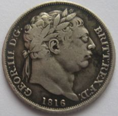 United Kingdom - 6 Pence 1816 George III - silver
