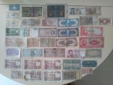World - 38 collection banknotes