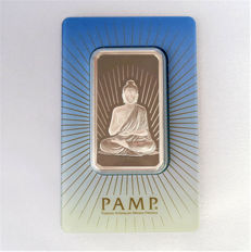 Switzerland - 1 ounce silver bar 'PAMP / Buddha' - 1 oz silver