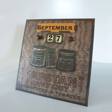 Capstan cigarettes navy cut - early 20th century - perpetual calendar.