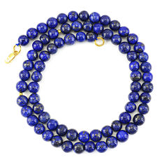 Lapis Lazuli necklace with 18 kt (750/1000) gold clasp, length 50cm. *No Reserve*