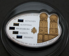Cook Islands - 5 Dollars 2006 'Papst Benedikt XVI in Bayern' - silber