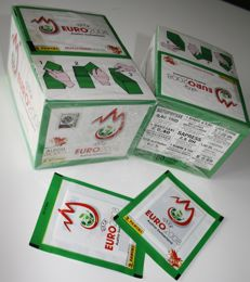 Panini - Euro Austria/Switzerland 2008 - 2 original unopened boxes + 2 extra loose packets - Green version - In factory seal.