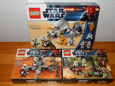 Starwars - 9488 + 9489 + 9490 - Elite Clone Trooper & Commando Droid + Endor Rebel Trooper & Imperial Trooper + Droid Escape