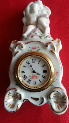Franklin mint the louis xv cartel clock, with certificate of authenticity