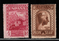 Spain, 1931 - Two series Montserrat Monastery Surface and air mail – Edifil 636/654