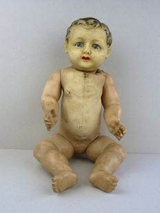 Paper mache / Celluloid doll - France