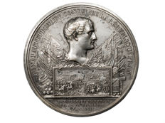 France - Napoleon 'Battle of Marengo Year VIII (1800)' medal by Montagny - Silver-plated bronze