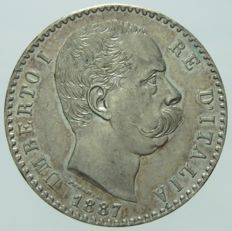 Kingdom of Italy, 1887 – 2 Lira, Umberto I – Silver