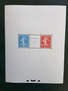 France 1927 - Strasbourg nternational Philatelic Exhibition - Yvert block-sheet no. 2