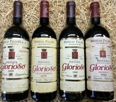 1975 Glorioso Great Reserve 1 bottle - 1978 Glorioso Great Reserve 1 bottle - 1981 Glorioso Reserve x 1 bottle - 1982 Glorioso Reserve x 1 bottle / 4 Bottles (0,75cl)