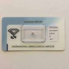 Natural diamond, 0.30 ct G VS1.