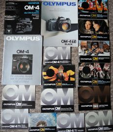 More than 40 books and brochures on the Olympus OM system (1970-1990)