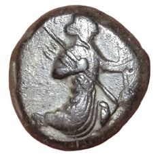 The Greek Antiquity - Achaemenid Kings of Persia, Artaxerxes I - Artaxerxes II, c. 450-375 BC - AR Siglos (Silver, 15mm, 5,21g.), Sardeis mint - Persian king / Incuse punch - SNG Kayhan 1029