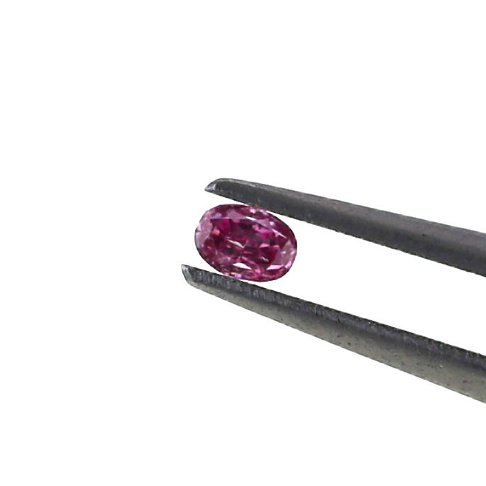 0.03 ct. Natural Fancy Intense purplish Pink Oval shape Diamond, GIA certified