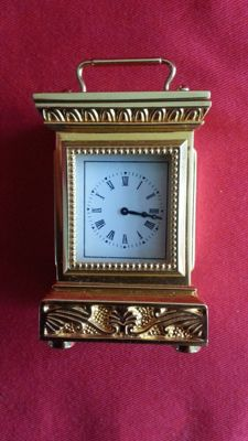 Franklin mint the empire carriage clock with certificate of authenticity