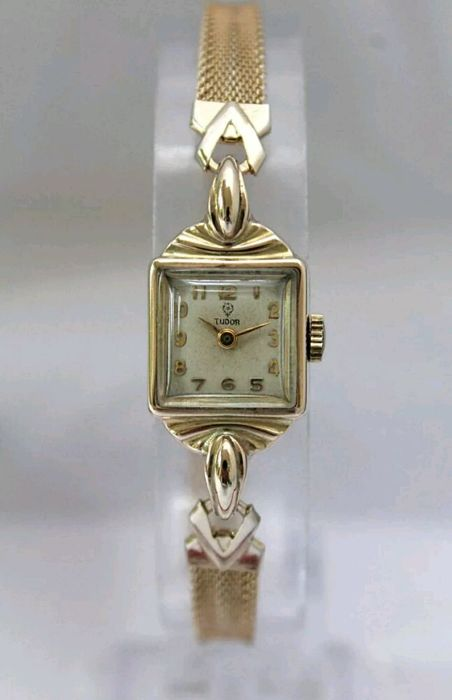 Tudor from Rolex, solid gold women's deco vintage
