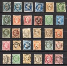 France 1850/74 - Selection of Classic Céres, Napoléon stamps - Yvert from no. 4 and 60