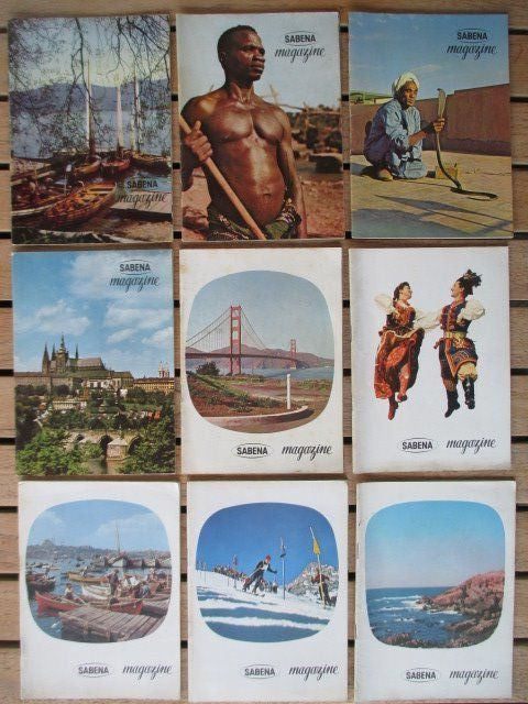 Sabena Magazine, 9 issues, from 1957 to 1961
